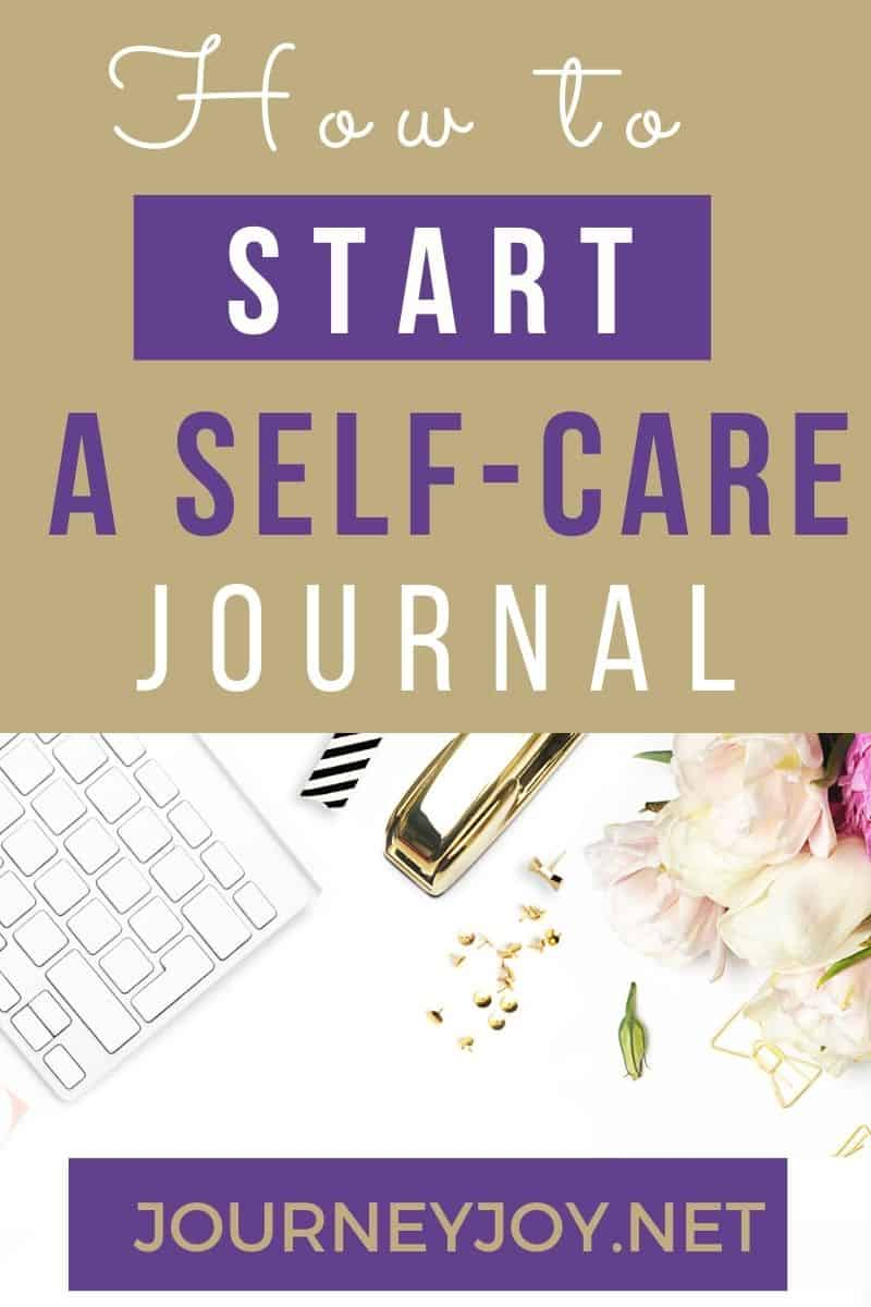image of text box how to start a self-care journal