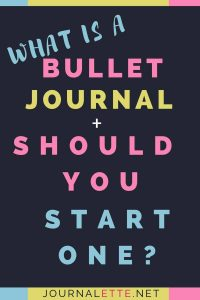 Image of text box what is a bullet journal and should you start one