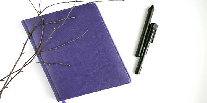 image of notebook pens for how to stop worrying