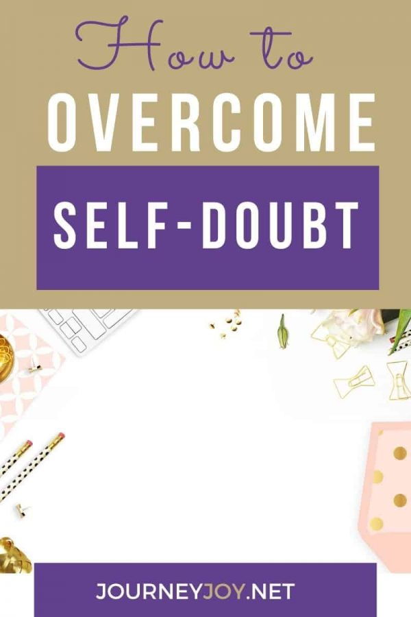 image of text box how to overcome self-doubt