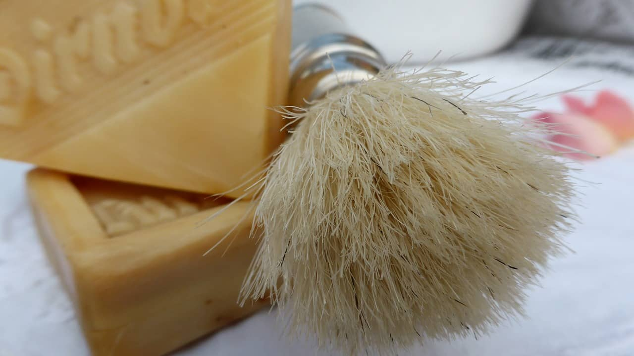 image of shaving brush for father's day self care gifts for dads and granddads