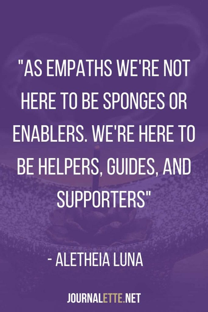 empath quote text by a. luna