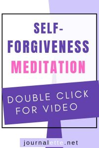 image of text box with self-forgiveness meditation