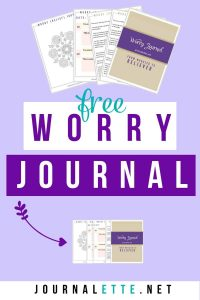 Image of worry journal