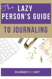 image of text box the lazy persons guide to journaling